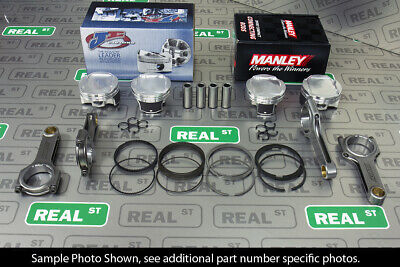 Je Pistons Manley H Beam Rods Fits Subaru Ej257 Block Ej205 Head 100mm 8.5:1 Cr