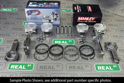 Je Pistons Manley H Beam Rods For Impreza Wrx Sti Ej255 Ej257 100mm 9.5:1 Cr