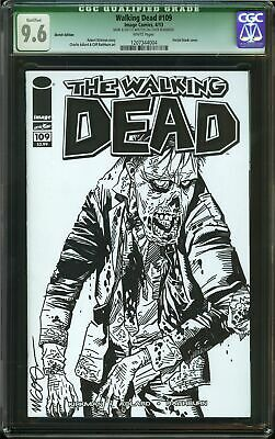 Walking Dead #109 Cgc 9.6 Nm+ Name & Sketch Written On Cover Zombie Amc