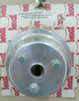 Usa Zoops Polished Forged (1) Single Groove Crank Pulley Fits:lwp/sbc