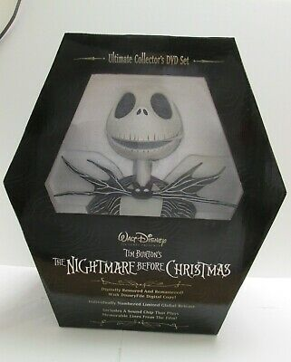 New Nightmare Before Christmas Jack Skellington Bust Limited Edition Movie Dvd