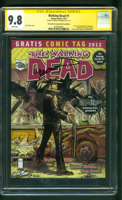 Walking Dead 1 Cgc Ss 9.8 Robert Kirkman German Comic Book Day Ed Variant 2012