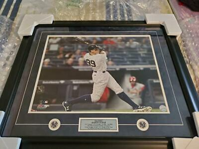 "Ny Yankee Aaron Judge ""all Rise!"" Large Framed & Matted Le Photo W/stats"