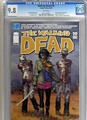 Walking Dead #19 Cgc 9.8 Key White Pages 1st Michonne Zombie Bondage Cover