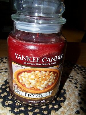 "Yankee Candle - 1 - 22 Oz  ""sweet Potato Pie""   House Warmer Jar    Free Ship!"
