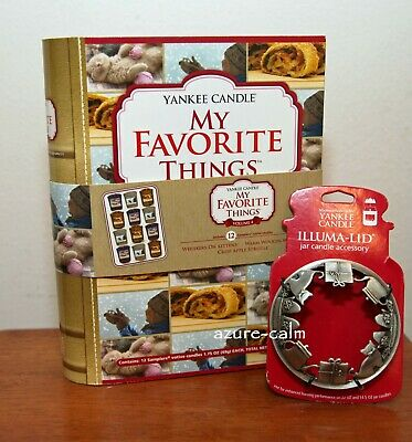 Yankee Candle My Favorite Things 12 Sampler Votive Candles Vol 4  + Illuma Lid