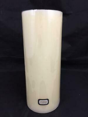 "Large Vintage Yankee Candle Pillar French Vanilla 4"" X 10"" With Sleeve"