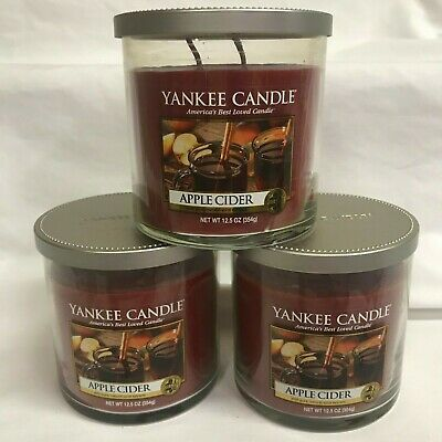 Yankee Candle (3) Apple Cider 12.5 Oz Two Wick Tumbler Jar Candles
