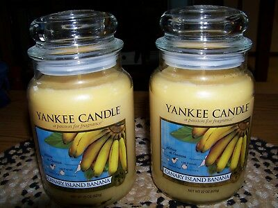 Yankee Candle - ( 2 )  Canary Island Banana  22 Oz Single Wick Jars  Free Ship