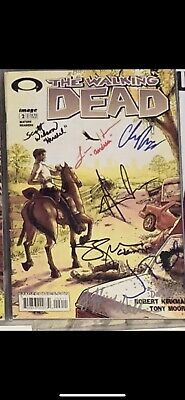 Walking Dead 2 Signed By 7 Of The Cast