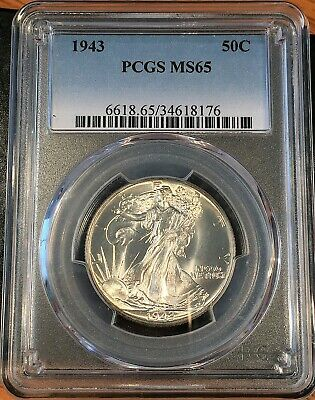 1943 Walking Liberty Half Pcgs Ms65 - High Quality Scans #8176