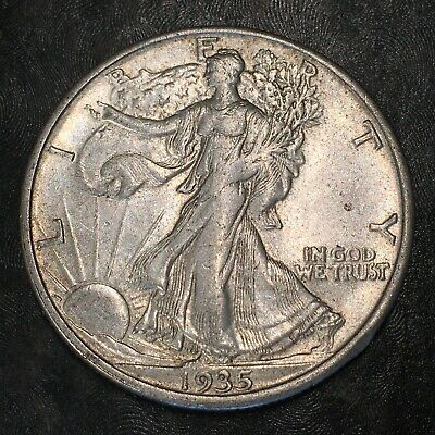 1935-s Walking Liberty Half Dollar - Totally Original -high Quality Scans #h962