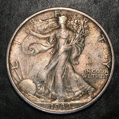 1933-s Walking Liberty Half Dollar - Nice Example - High Quality Scans #h841