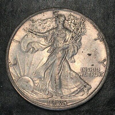 1935-s Walking Liberty Half Dollar - Totally Original -high Quality Scans #h960