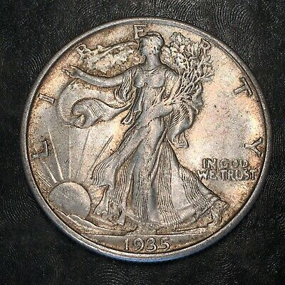 1935-s Walking Liberty Half Dollar - Totally Original -high Quality Scans #h974