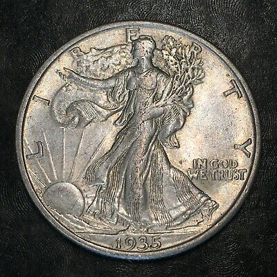 1935-s Walking Liberty Half Dollar - Totally Original -high Quality Scans #h976