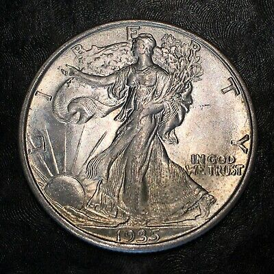1935-s Walking Liberty Half Dollar - Totally Original -high Quality Scans #h989