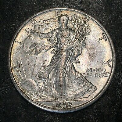 1935-s Walking Liberty Half Dollar - Totally Original -high Quality Scans #h972