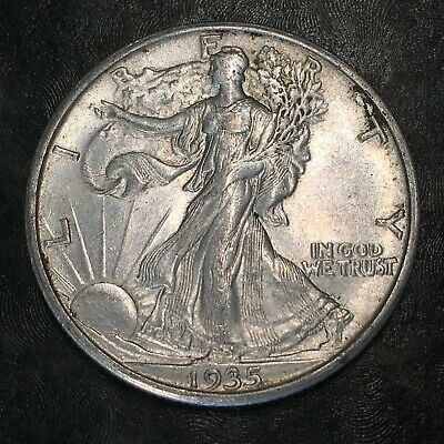 1935-s Walking Liberty Half Dollar - Totally Original -high Quality Scans #h978