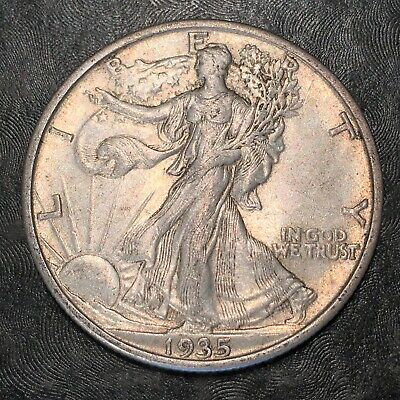 1935-s Walking Liberty Half Dollar Totally Original - High Quality Scans #h906