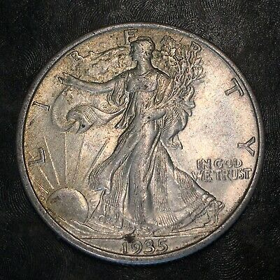 1935-s Walking Liberty Half Dollar - Totally Original -high Quality Scans #h977