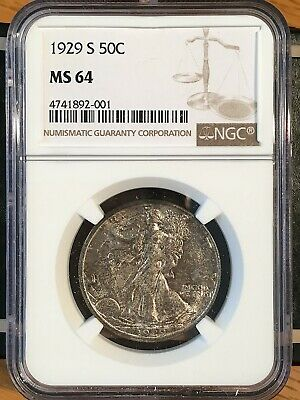 1929-s Walking Liberty Half - Ngc  Ms 64 - High Quality Scans #2001