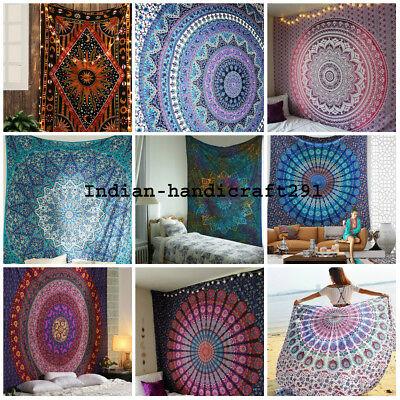 10 Pc Mandala Tapestry Wall Hanging Throw Bedding Cotton Bedspread Wholesale Lot