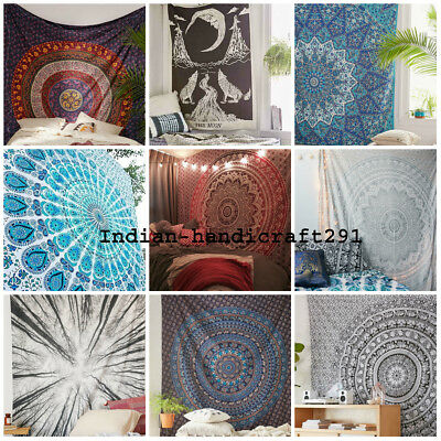 10pc Lot Mandala Tapestry Wall Hanging Throw Bedding Cotton Bedspread Wholesale