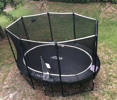 Skybound Trampoline Oval Orion 11ft X 16ft & Step Ladder Must Sell! S. Florida