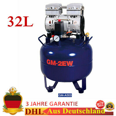 32l Dental Oil Free Air Compressor Silent Noiseless Oilless 850w German Stock