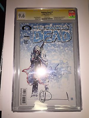 The Walking Dead #7 Cgc 9.6 Signed Ss Charlie Adlard Tyreese Signature Series