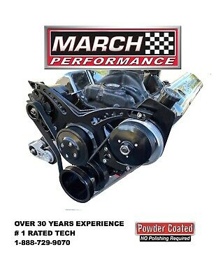 March Revolver Serpentine Pulley And Bracket System.small Block Chevy 21893-08