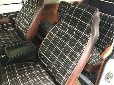 International Scout Original Seat Material Russet Plaid And Matching Vinyl