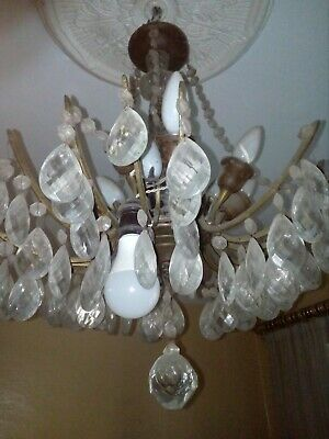 Vintage Rare Glass And Copper Chandelier 1981 One Of A Kind
