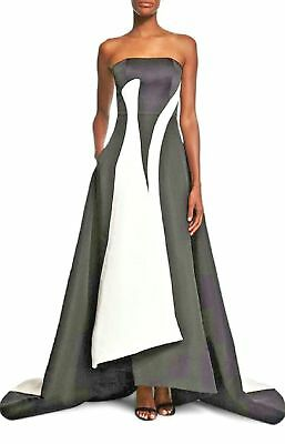 $7295 Sold Out New Prabal Gurung Stunning Black White Gown Dress Runway Us 6 S