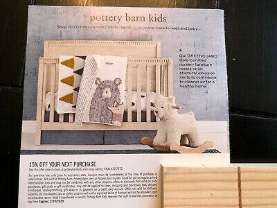 Pottery Barn Kids 15% Off Entire Purchase Coupon Ex:2/29/20