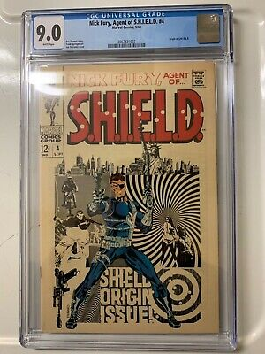 Nick Fury Agent Of Shield 4 Cgc 9.0 White Pages Vf/nm 1968 Steranko Art