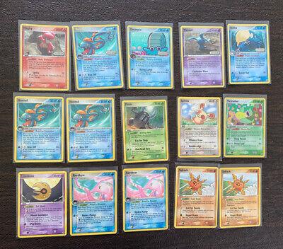 Ex Legend Maker Pokemon Card Bundle Reverse Holo Magby Huntail Wynaut Solrock