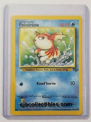 Pokemon GOLDEEN 53/64 Jungle (French) - Excellent Condition + Bonus