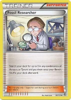 6x Fossil Researcher - 92/111 - Uncommon NM Pokemon XY Furious Fists