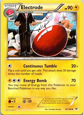 Electrode 22/108 Uncommon Pokemon Roaring Skies Light Play