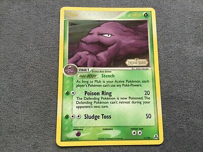 Pokemon Card - Muk - 11/92 - Legend Maker - Reverse Holo - Excellent/NM