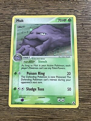 Pokemon Holo Foil Card : Muk 11/92 (Ex Legend Maker) NM
