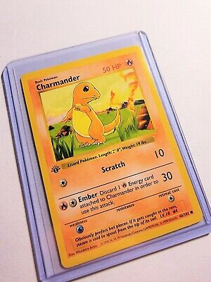 Charmander 1999 Pokemon TCG Base Set 1st Edition Shadowless #46/102 (112)