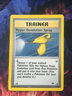 Hyper Devolution Spray 73/75 Uncommon Unlimited Pokemon WOTC Neo Discovery Card