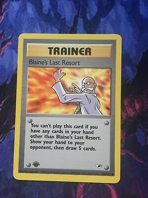 Blaine's Last Resort - 105/132 - Uncommon - 1st Edition Gym Heroes Pokemon - EXC