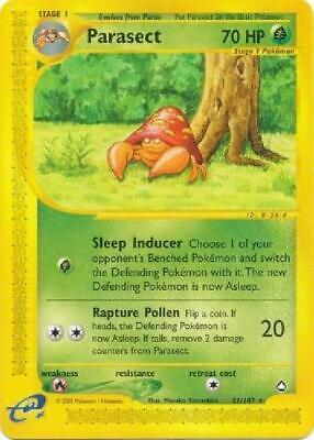 Parasect -  27/147  - Rare NM Aquapolis Pokemon