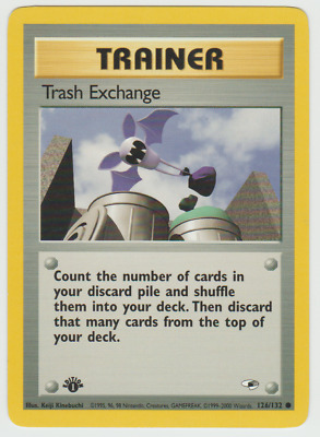 Tracking 1st Edition Gym Heroes Trash Exchange Trainer 126/132 Pokemon Card
