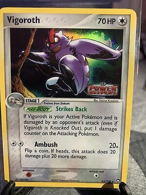 Vigoroth EX Holo Power Keepers Pokemon 41/108  Stamped Holo Mint Condition Pics