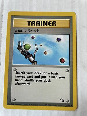 Pokemon Fossil Unlimited 59/62 Energy Search Trainer Common Mint M PSA RDY